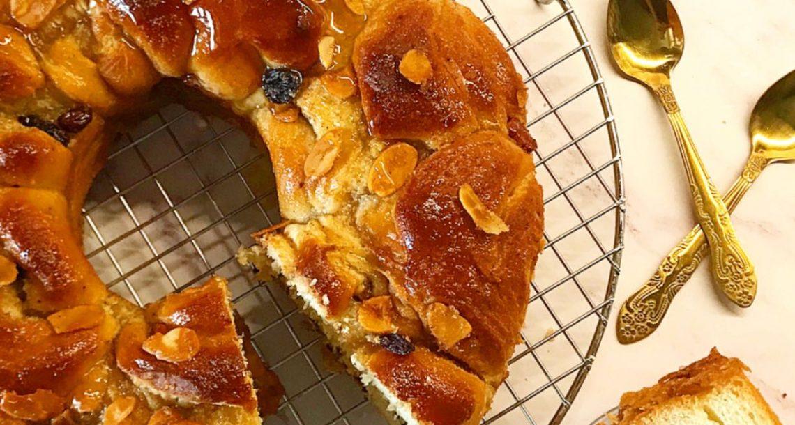 מיוחד לחג: עוגת השמרים במלית דבש וצימוקים של מיטל אלימלך